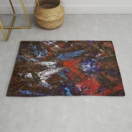 In Darkness Acrylic Abstract Rug