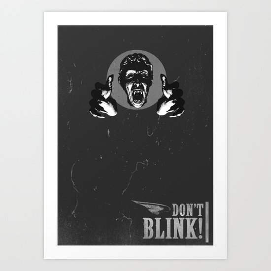 Doctor Who: Weeping Angel Art Print