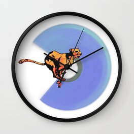 running cheetah Wall Clock