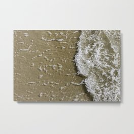 Waves Crashing on the Shore Metal Print