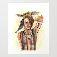 tank girl Art Prints featuring Tank Girl by Emily Quintero