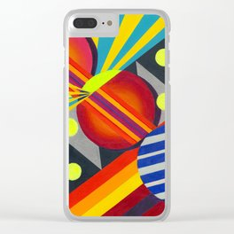 Cicles & Stripes Clear iPhone Case