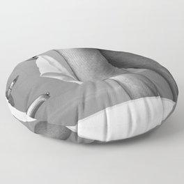 White Hand Towel Floor Pillow