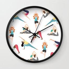 Yoga Pattern Wall Clock