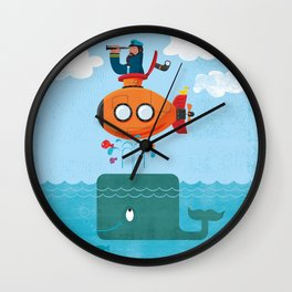 Whale Ahoy Wall Clock