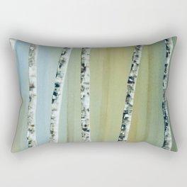Summer Birch Trees Rectangular Pillow