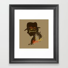 Don't call me Junior! – Indiana Jones Silhouette Quote Framed Art Print