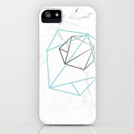 Abelie (Baby blue & Silver) iPhone Case