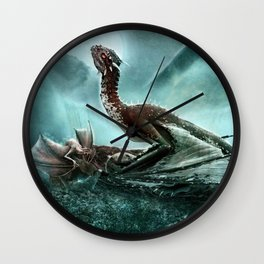 Into the dragon's lair Wall Clock