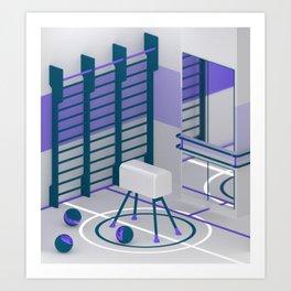 Interior #1 / Gym Art Print