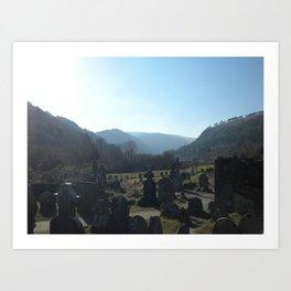 Glendalough Graveyard Art Print