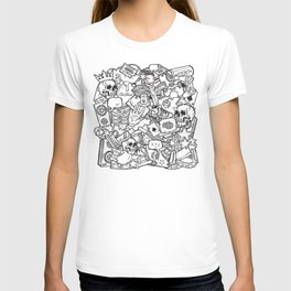 Cute mixed doodles art T-shirt