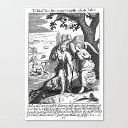 Tobias, the fish, & the Angel Canvas Print