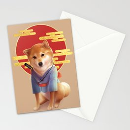 Samurai Shiba Stationery Cards