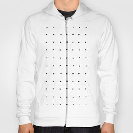 Dot Grid Black and White Hoody