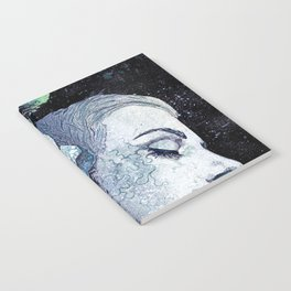 Obey Me: Blue (graffiti flower woman portrait) Notebook