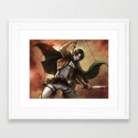 levi Framed Art Prints featuring Levi Heichou by K.Koji