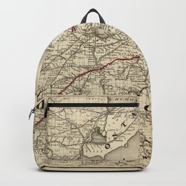 Map of the Erie Railroad (1869) Backpack