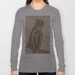 Ocelot Watching, by Ave Hurley Long Sleeve T-shirt