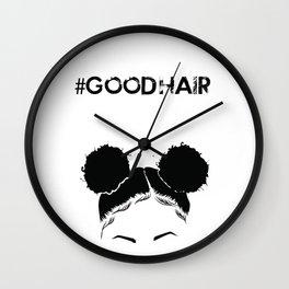 #GOODHAIR - Puffs Wall Clock