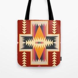 Navajo Pattern Three Tote Bag