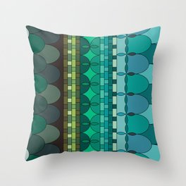 scales under the ocean Throw Pillow
