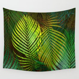 TROPICAL GREENERY LEAVES Wall Tapestry