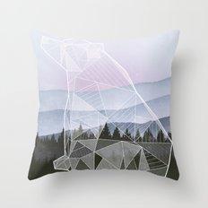 Geometric Nature - Bear (Full) Throw Pillow