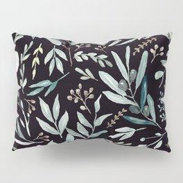 Black Eucalyptus Pattern Pillow Sham