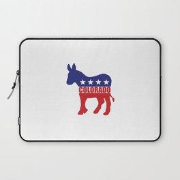 Colorado Democrat Donkey Laptop Sleeve