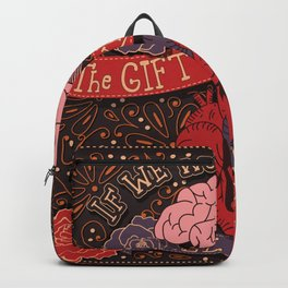 If we wonder often the gift of knowledge will come inspirational quote, handlettering design Backpack