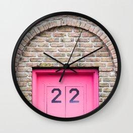 Door Number 22 Wall Clock