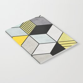 Colorful Concrete Cubes 2 - Yellow, Blue, Grey Notebook