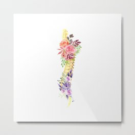Floral Spine Anatomy  Metal Print