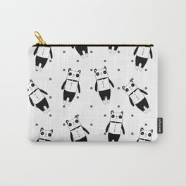 Black and white panda dotted pattern Carry-All Pouch
