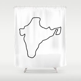 India Indian map Shower Curtain
