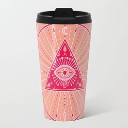Evil Eye Mandala – Pink Travel Mug