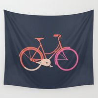 bike Wall Tapestries featuring Bike by Leandro Pita