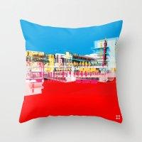 bauhaus Throw Pillows featuring Bauhaus · Das Bauhaus 1 by Marko Köppe