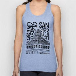 Coronado Island, San Diego, California Architype | Architectural Illustration Unisex Tank Top