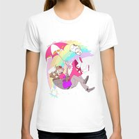 puppycat T-shirts featuring Puppycat Rainbow Fall by Beta PV