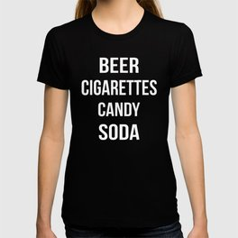 Beer Cigarettes Candy Soda T-shirt