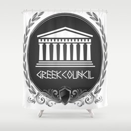 GREEK LUXORY COUNCIL Shower Curtain