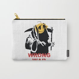 Reaper with smile face - Banksy graffiti Carry-All Pouch