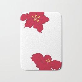 Poinsettia - red Bath Mat