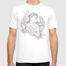Lost in Heaven White Mens Fitted Tee MEDIUM