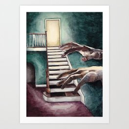Musical Steps Art Print