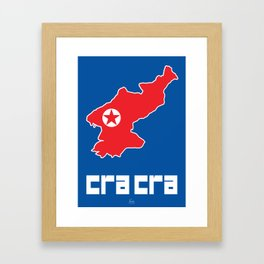 Cra Cra (North Korea) Framed Art Print