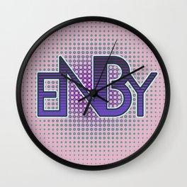 ENBY Purple Wall Clock