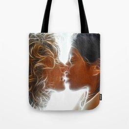 9705  Two Woman Kissing Sensual Erotic Fractal Art by Chris Maher Tote Bag